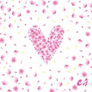 Viscose Viskose Jersey Blüten Herz Panel Aquarell Streifen von Mondstoff