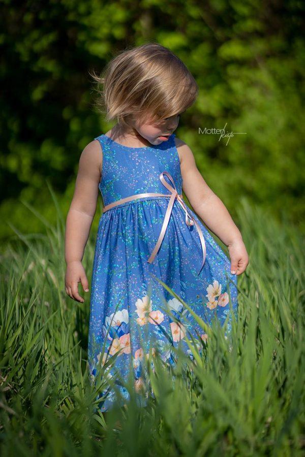 Viskose Modal Jersey Sommerstoff Frühlingsstoff Blumen Aquarell Bordürenstoff von Mondstoff